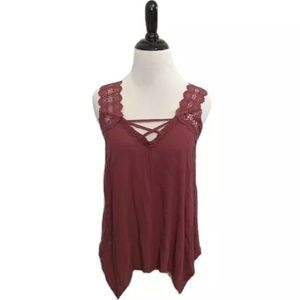 Caged Flowy Tank Top - Crave Fame by Almost Famous
